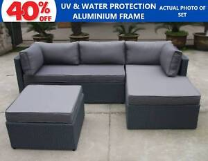 Outdoor Wicker Setting PE Rattan Modular Sofa Set Couch Lounge Roselands Canterbury Area Preview