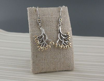 Sterling Silver CELTIC TREE OF LIFE EARRINGS with 18K accents Keith Jack Jewlery