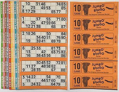 3000 10 PAGE GAMES JUMBO BINGO TICKETS 6 TO VIEW JUMBO BINGO BOOKS