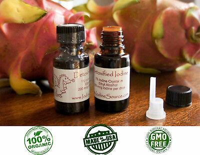 ORGANIC Nascent Iodine Detoxified GMO FREE Cayce Colloidal Mined Thyroid 1/2 -