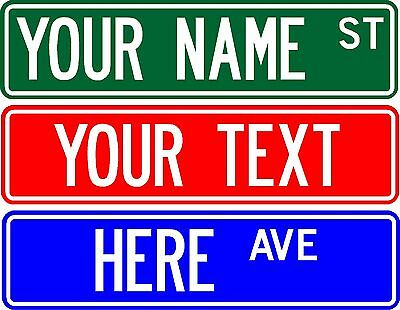 "PERSONALIZED CUSTOM STREET SIGN, 6""X24"" MAKE YOUR OWN SIGN"