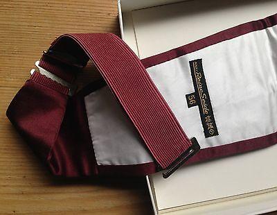 KUMMERBUND Franz Betthof Bielefeld 50er 56 XL Reine Seide Bordeaux Rot Vintage