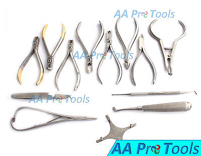 Set Of Orthodontic Instruments Of 13 Pieces - Stainless Steel Boone Gauge Dn-488