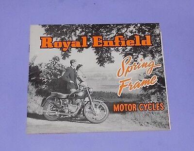 *VERY RARE ORIGINAL 1954 ROYAL ENFIELD MOTOR CYCLE SALES BROCHURE + PRICELIST *