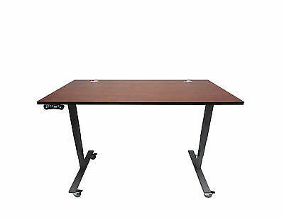 Electric Height Adjustable Desk With Laminate Top 3 Colors 60wx30dx1