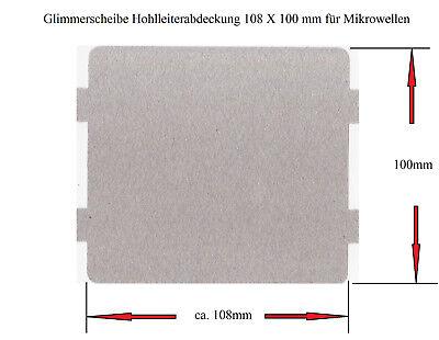 Glimmerscheibe 108 X 100mm für Mikrowellen-Austritt