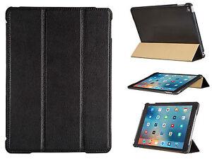 FUTLEX Genuine Leather Smart Cover Case for iPad Air 2 - Black - Handmade