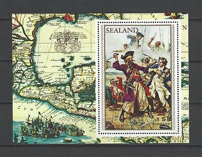 Sealand 1970  Pirates-Blackbeard  MNH Souvenir Sheet-Fantasy Issue