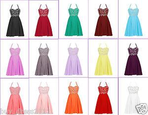 femmes court robe de soir e robe de demoiselle d 39 honneur bal cocktail robes ebay. Black Bedroom Furniture Sets. Home Design Ideas