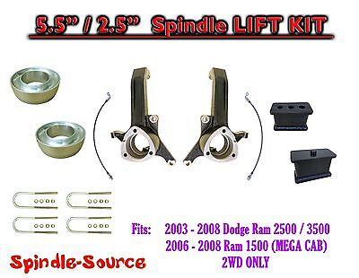 5.5 / 2.5 Lift Kit FITS 03 - 08 Dodge Ram 2500 3500, 1500 Mega Cab 2WD 3.5