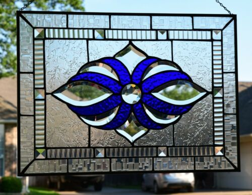 Large Bevel Stained Glass Window Panel