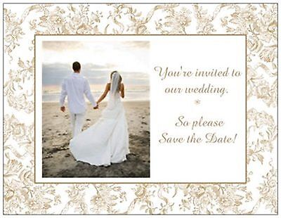 UR PHOTO Custom WEDDING  Save the DATE Toile Postcards or Flat CARDS 2 Colors   - Custom Save The Dates