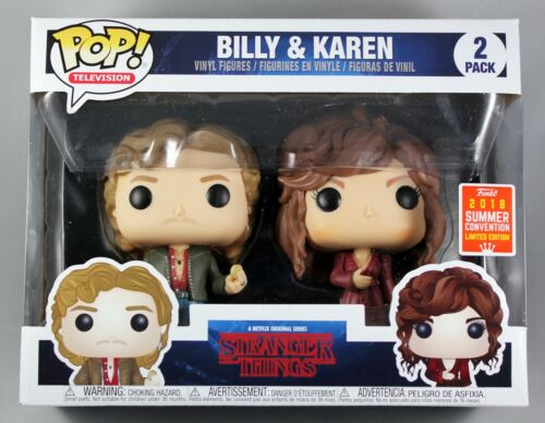 STANGER THINGS BILLY & KAREN 2-PACK CONVENTION EXCLUSIVE FUNKO POP VINYL FIGURE