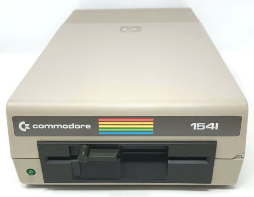 Commodore 1541 Floppy Disk Drive *Powered On *Drive Untested *No Power Cord