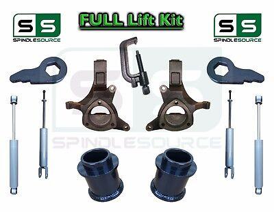 """2000 - 2006 Chevy GMC SUV Tahoe Yukon 5-7"""" / 3"""" Lift Kit Spindle SHOCKS TOOL"""
