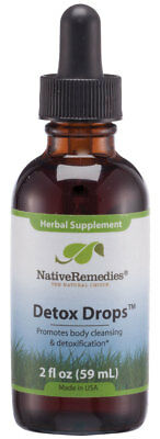Native Remedies Detox Drops - All Natural Herbal Supplement Promotes Systemic