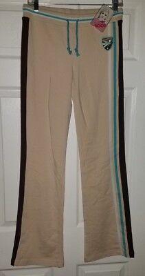 NWT Kangaroos Womens Stretch Paneled Drawstring Lounge Pants Boot Cut L Large Panel Bootcut Pants