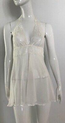 80s Dresses | Casual to Party Dresses Vintage White Mesh And Lace 1980's Mini Slip Dress $26.21 AT vintagedancer.com