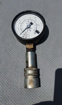 Used Enerpac Gf-715 Pressure Gauge With Pioneer 8250 Hydraulic Coupling Attached