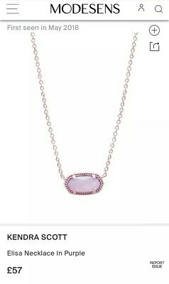 Kendra Scott Elisa Purple Genuine Necklace New