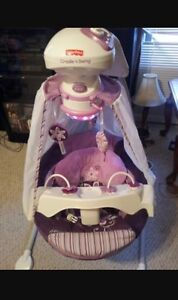Fisher Price- Purple starlight 3 position Baby swing