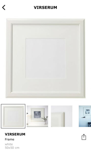 Ikea Virserum frame 50x50cm in white | Picture Frames | Gumtree ...