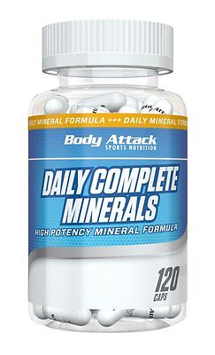 (14,52 Euro/100g) Body Attack Daily Complete Minerals - 120 Kapseln Mineralien - Complete 120 Kapseln