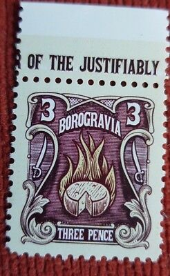 DISCWORLD TERRY PRATCHETT THE BOROGRAVIA THRUPENNY 'CHEESEMONGER' FLOT STAMP