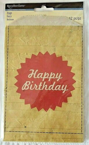 Recollections HAPPY BIRTHDAY Favor Bags - 12ct