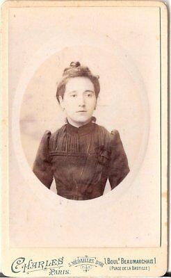 CDV Foto Damenportrait - Paris 1890er
