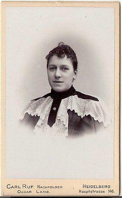 CDV photo Damenportrait - Heidelberg 1890er