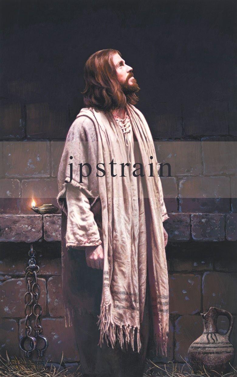 "/""Thou Art With Me/"" John Paul Strain 25-1//2/"" Signed Canvas Giclee Print"