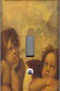 2 ANGELS LIGHT SWITCH PLATE COVER