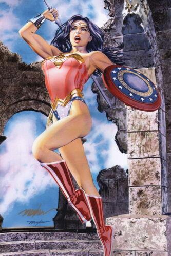Mike Mayhew SIGNED DC Comics Justice League JLA Art Print ~ Wonder Woman