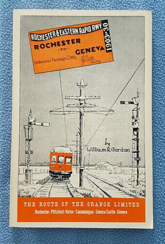 Orange Limited Route - Rochester & Eastern Rapid Railway Geneva New York history