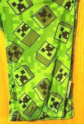 Minecraft Creeper Pants (Boys MINECRAFT Creeper Sz 10/12 14/16 Lounge Pajama Pants GAMER PJS)