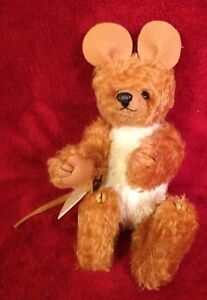 Barbaras-Originals-HoneyCup-Rodant-LE-4-12-Handmade-Mohair-Stuffed-Animal-Doll
