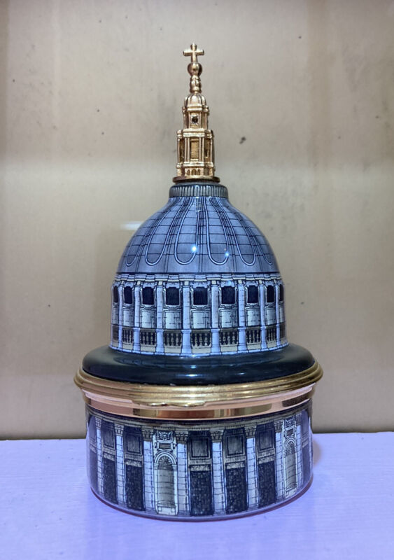 RARE Halcyon Days Music Box The Dome Of St Paul's Cathedral- Bach $825