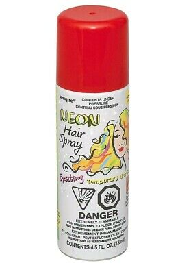 Unique Party Red Hair Spray Halloween Fancy Dress Up Costume free UK p&p ](Red Hair Spray Halloween)