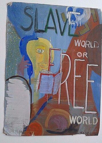 SAUL LISHINSKY JEWISH NEW YORK LISTED ARTIST ABSTRACT DRAWING 15 1/2 X 11 3/4