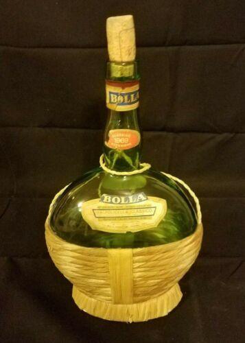 Vintage 1969 Bolla Bardolino Verona Italy Green Glass Wine Bottle