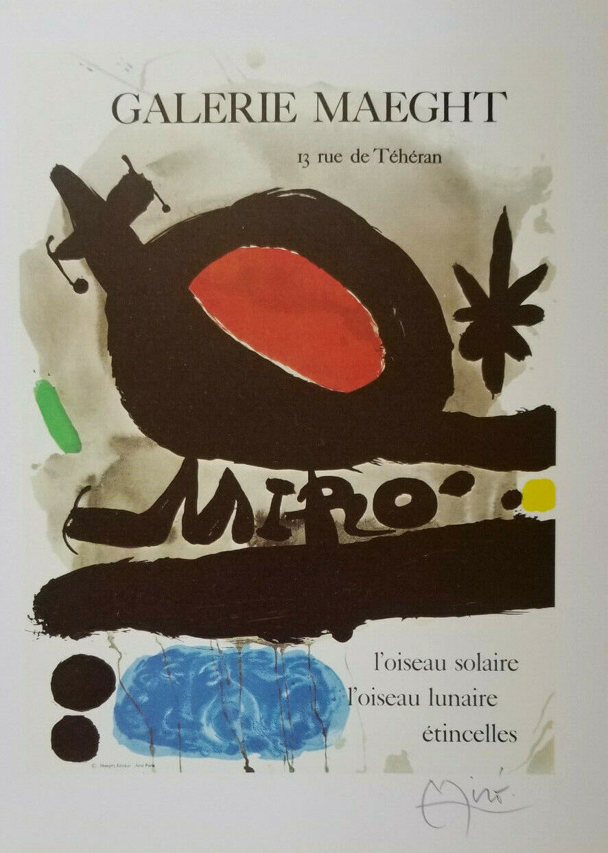 JOAN MIRO 1983 HAND SIGNED HIGH QUALITY PRINT NO RESERVE  - $79.00