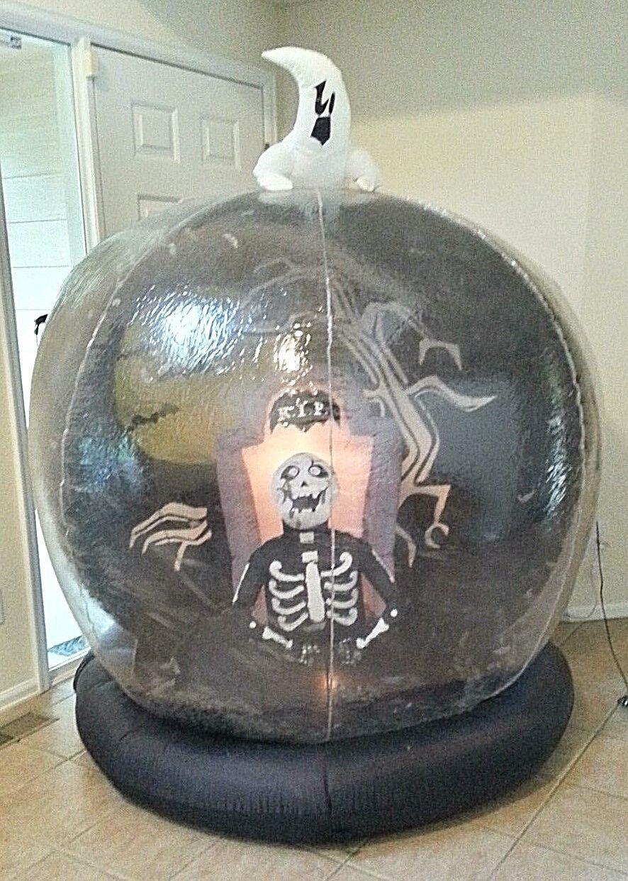 Airblown Inflatable Halloween Graveyard Zombie Globe 6' Lights Indoor Outdoor