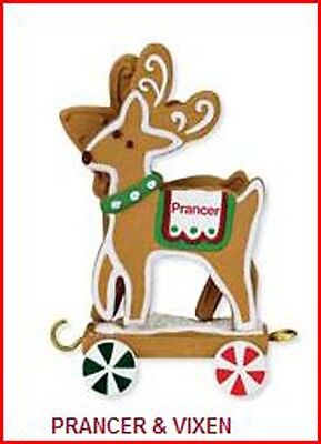 2009 Hallmark PRANCER & VIXEN from Santa's Sleigh with Reindeer Set (#3 of (Prancer Sleigh)