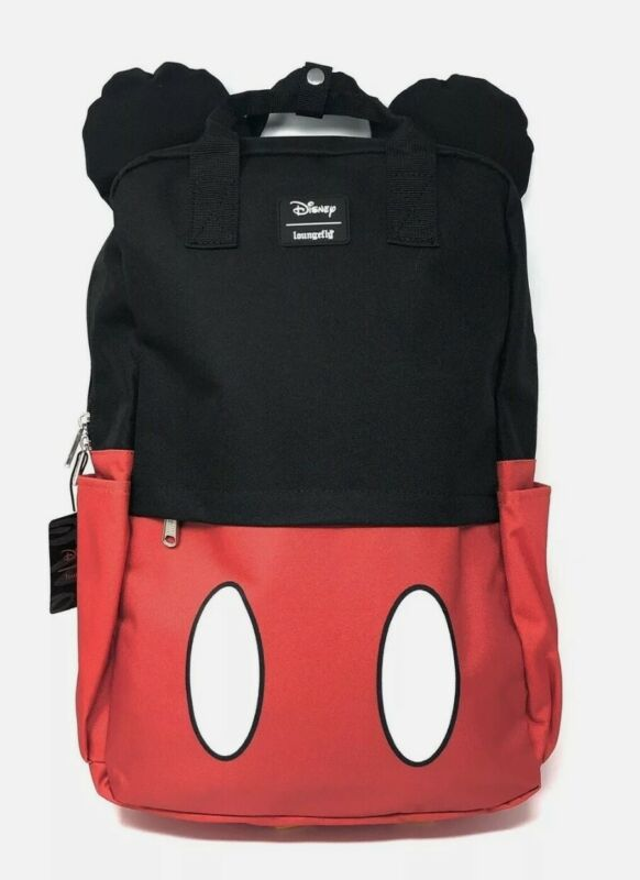 Loungefly Disney Mickey Mouse Ears Laptop Backpack NWT Full Size