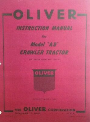 Oliver Crawler Tractor A Ad Adh Operating Repair Parts Manuals 158p 2 Books