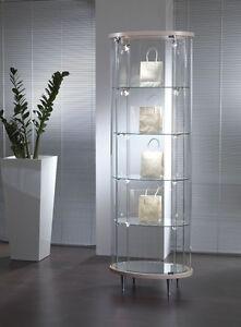 oval schaufenster glassvitrine mit beleuchtung haus / einzelhandel - ITALIA, Italia - L'oggetto può essere restituito - ITALIA, Italia