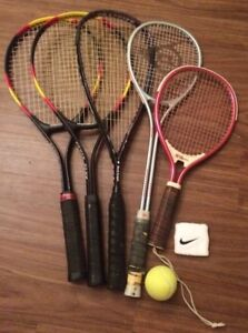 5 Racquets & 2 cases