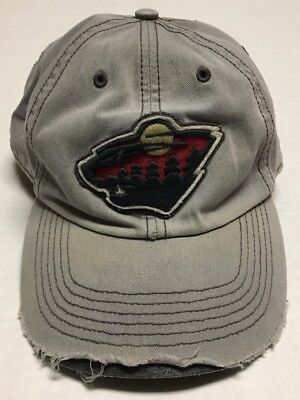 Minnesota Wild Fitted Hat Large Nhl Hockey Baseball Cap Destroyed St Paul Mn