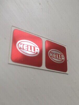 Hella spot light stickers Red-Chrome, Volkswagen MK1 Mk2 Golf GTI, G60, 8v, 16v